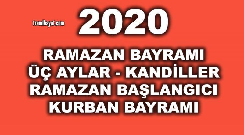 2020 RAMAZAN BAYRAMI ve RAMAZAN NE ZAMAN