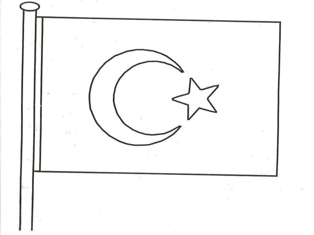 Türk bayrağı çizgi