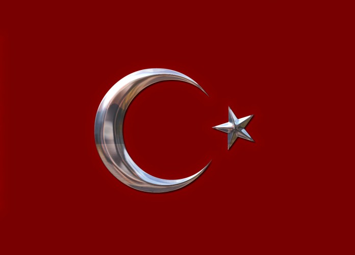 Türk bayrağı metal
