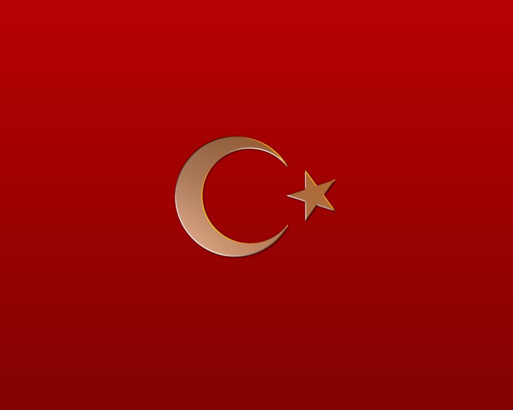 Türk bayrağı altın
