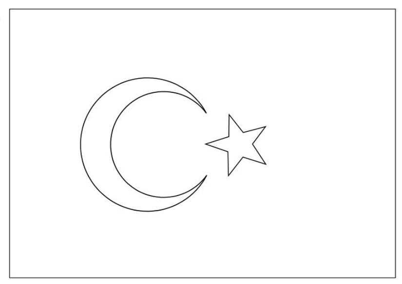 Türk bayrağı boyama
