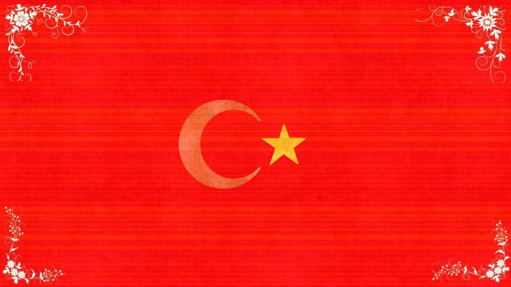 Türk bayrağı desenli
