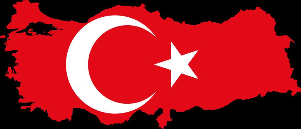 Türk bayrağı harita