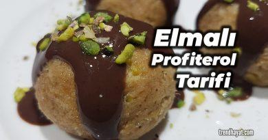 elmalı profiterol tarifi