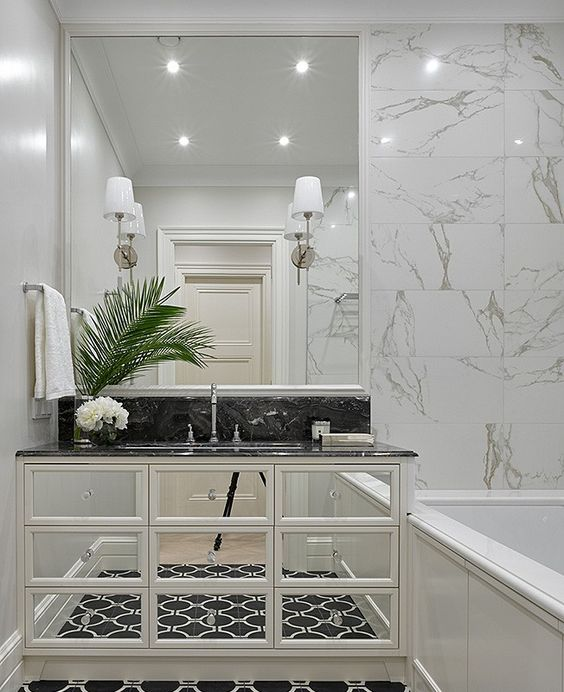 klasik modern banyo