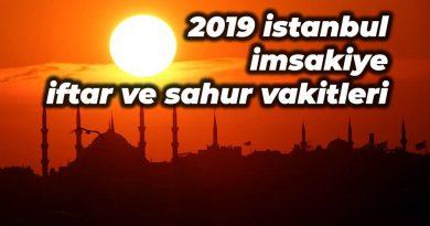 istanbul imsakiyesi